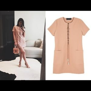 KENDALL AND KYLIE SAFARI DRESS IN BLUSH